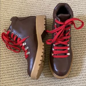 Target Boot with Red Lace